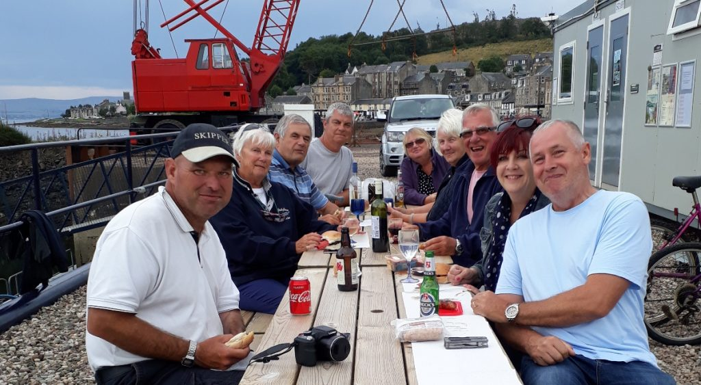 Port Bannatyne July 2018 The Happy Musterers